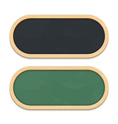 Green and Black Chalkboards vector image