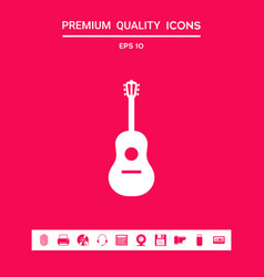 guitar icon symbol graphic elements for your vector image