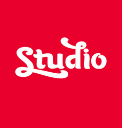 Handwritten modern brush lettering of studio vector