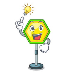 have an idea traffic sign isolated on the mascot vector image