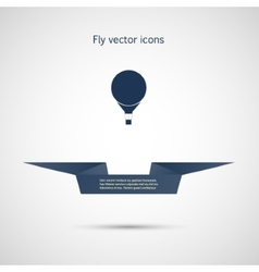 Icon flat balloon and ribbon for your text vector image