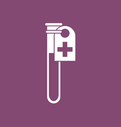 Icon test tube vector
