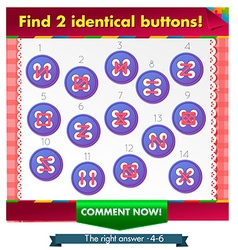 Identical buttons 2 vector