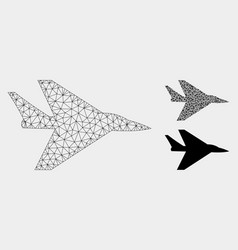 Intercepter plane mesh 2d model and vector
