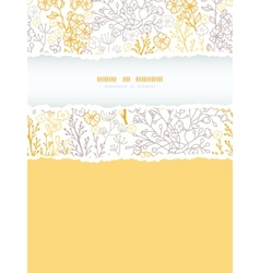 Magical floral vertical torn frame seamless vector