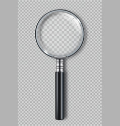 magnifying glass zoom realistic symbols vector image