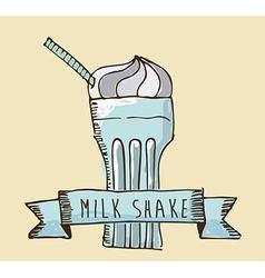 milkshake design vector image