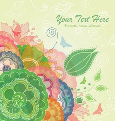 Modern Flower Background with Butterflies vector image vector image