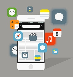 Modern smartphone interface elements vector image