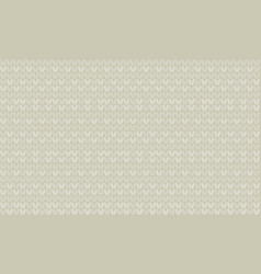 natural gray color knitting seamless pattern vector image