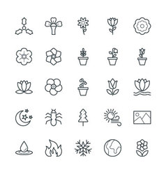 Nature Cool Icons 5 vector