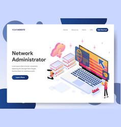 Network administrator isometric vector