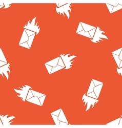 Orange burning letter pattern vector