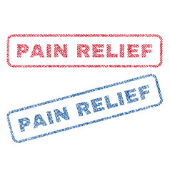 Pain relief textile stamps vector