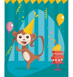 party monkey vector image