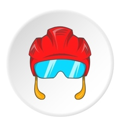 Pilot helmet icon cartoon style vector