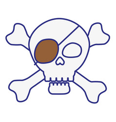 Pirate skull icon vector