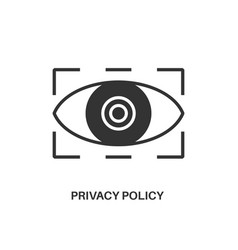 privacy policy icon vector image