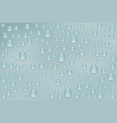 rain water drops on gray background nasty weather vector image