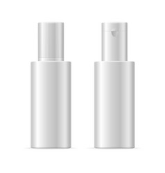realistic template blank white cosmetic bottle vector image