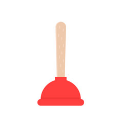 red plunger icon vector image