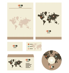 Retro world stationary vector image