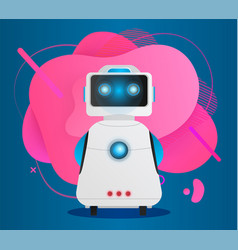 robot presentation artificial intelligence bot vector image
