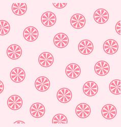 rose grapefruit background seamless pattern vector image
