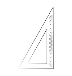 school set square vector image