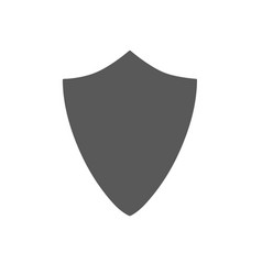 Security assurance icon guard shield plain line vector