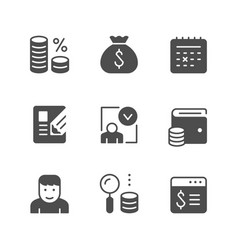 set icons of credit vector image