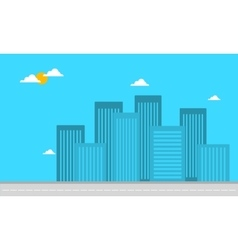 Silhouette of building apartment landscape vector