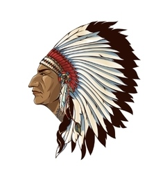 Single American Indian In Profile vector
