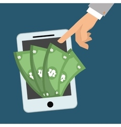 smartphone money digital app vector image