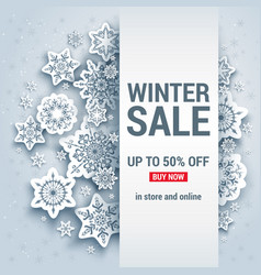Snowflakes winter background sale vector