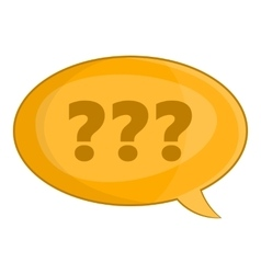 Speech bubble with question icon cartoon style vector