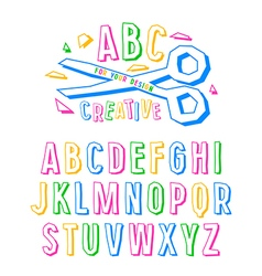 Stock creative alphabet vector image