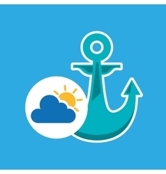 Summer vacation design nautical anchor icon vector