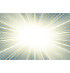 sun rays starburst bright effect isolated on vector image