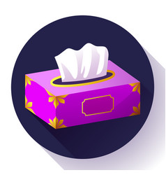 tissue box flat icon vector image