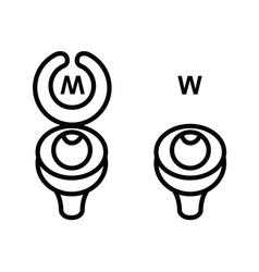 Toilet sign in funny style vector
