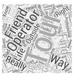 Tour operators word cloud concept vector