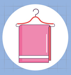 towel hanging laundry service vector image
