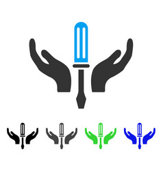 Tuning screwdriver maintenance flat icon vector