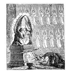 Vintage drawing biblical story israelites vector