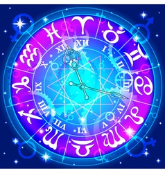 Watch with astrological signs zodiac vector