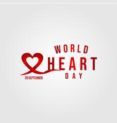 World heart day template design vector