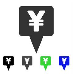 Yen map pointer icon vector