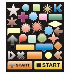 bright web elements vector image
