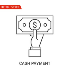 cash payment icon thin line vector image vector image